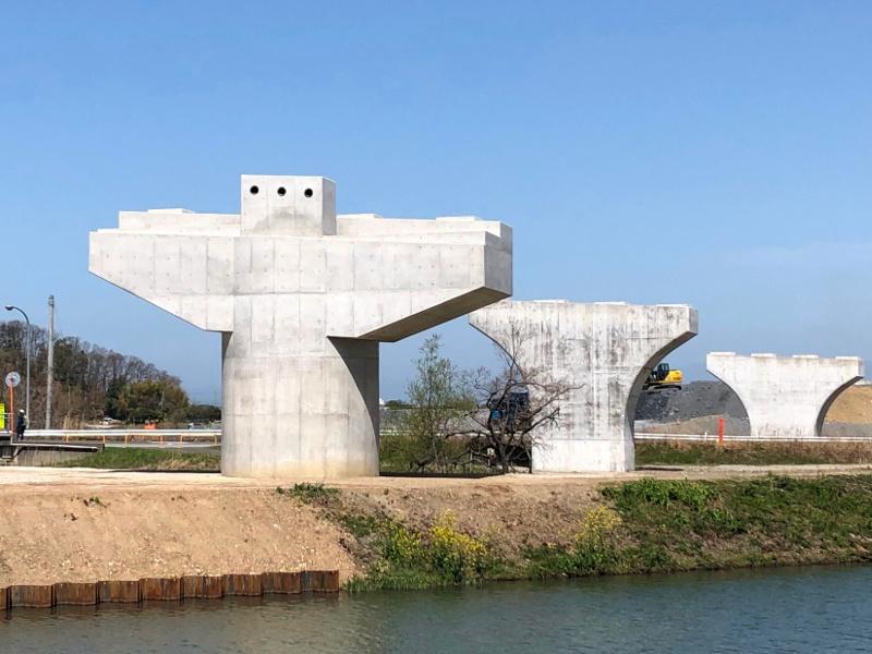 米原バイパス矢倉川高架橋P5橋脚他工事